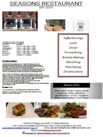 Season's Restaurant: Information