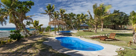 Kuata Island, Fiyi: Kuata Swimming Pools - We have 3 pools overlooking the beach.