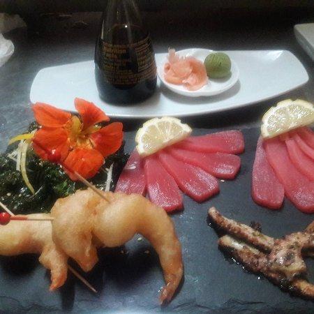 Windwardside, Saba: Sashimi special by chef Wolfgang
