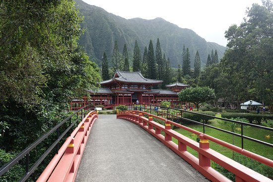 Kaneohe, Hawaï: View of the temple from the parking area.