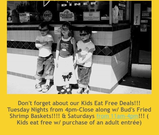 Cabo's Island Grill and Bar: Kids eat Free of our kids menu Sat till 4 P.M. & Tues nights after 4 P.M.