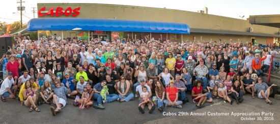 Cabo's Island Grill and Bar:   Annual Customer Appreciation Party . Thanking everyone for their support!