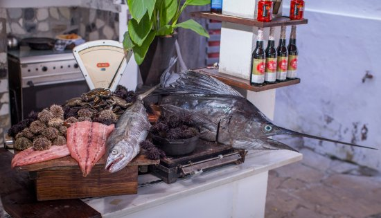 Ибо, Мозамбик: Cinco Portas kitchen