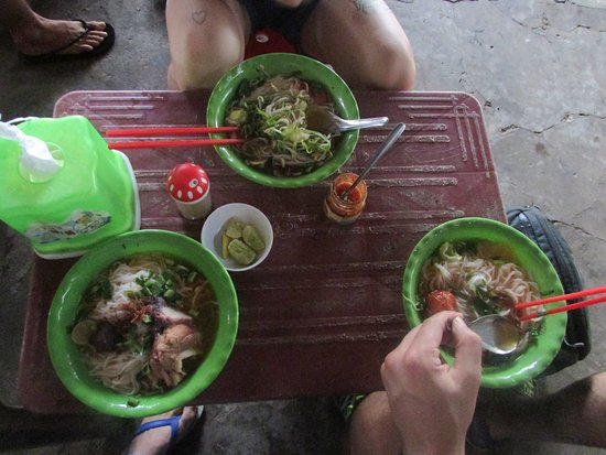 Ben Tre Province, Vietnam : Local food : Noodle with grab