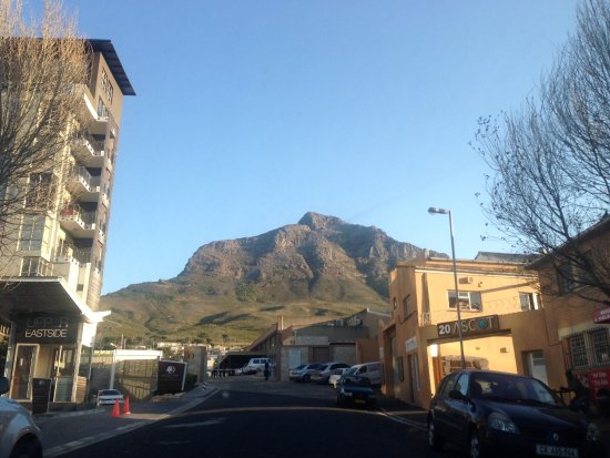 Woodstock, South Africa: A view from the front of the hotel (the hotel is just to the left of the photo)
