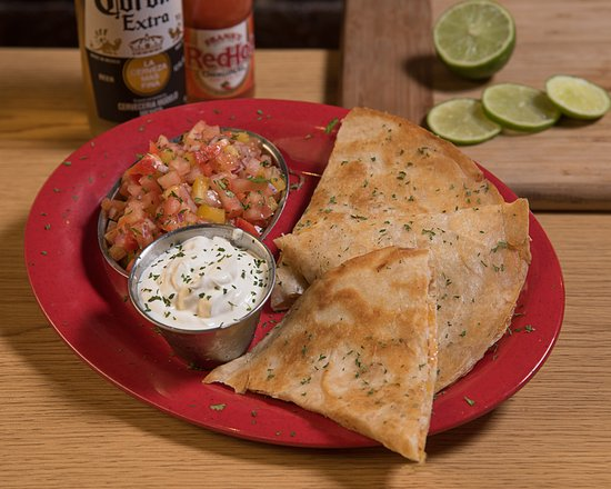 Pottstown, PA: Chicken Quesadillas with sour cream & house-made salsa