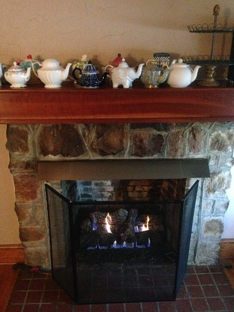 Arden, Carolina del Norte: The cozy fireplace room