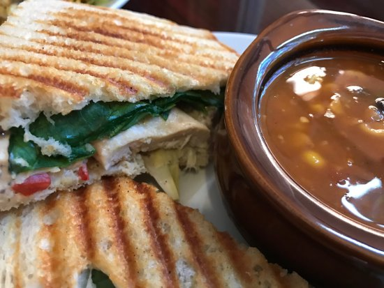 Arden, NC: Panini with homemade soup