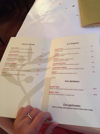 Chez Madeleine: Menu Page 3 and 4