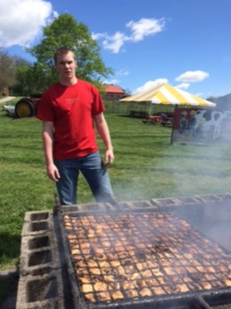 Washington, PA: Grilling out at Farm Heritage Day