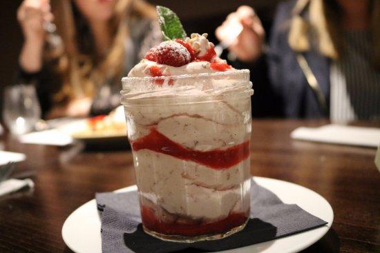 Sportsters Bar & Diner: Cranachan, Raspberry & Drambuie - Raspberries folded in whipped cream flavoured with honey, Dram