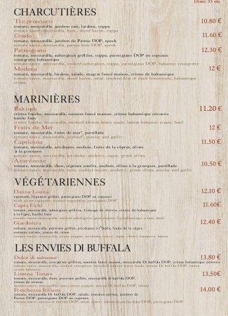 Cers, ฝรั่งเศส: Carte Pizze-boissons du kiosque à emporter