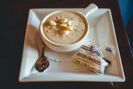Westport, CT: Chowder: steamed little neck clams, thick bacon, potatoes & seasonal vegetables $