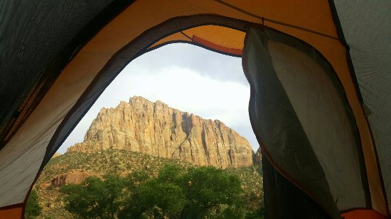 Watchman Campground: View from our campsite.