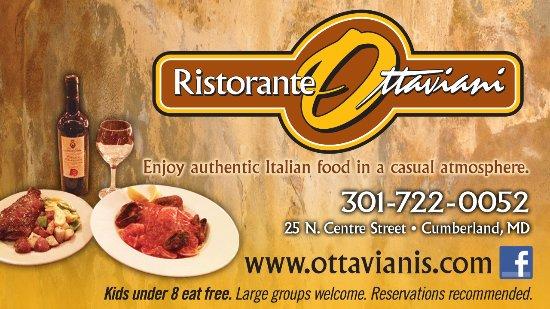 Cumberland, Мэриленд: Ristorante Ottaviani - authentic italian food from our family recipes.
