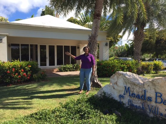 Meads Bay Beach Villas: Our host Joan.She makes the visit a joyful experience.