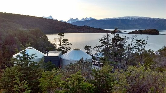 Patagonia Camp: Lovely view of the Yurts