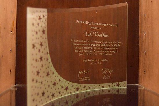 Twinsburg, OH: 2016 Outstanding Restauranteur Award