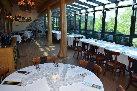 Wine Dinner tables prepared at Blue Canyon Twinsburg