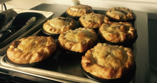 Ellsworth, ME : Fresh homemade pies out of our oven ready for lunch:-)