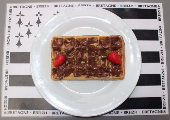 gaufre au nutella fotograf a de creperie gourmands. Black Bedroom Furniture Sets. Home Design Ideas