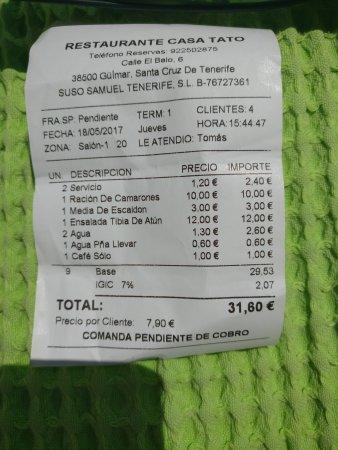 Guimar, Spania: Conto