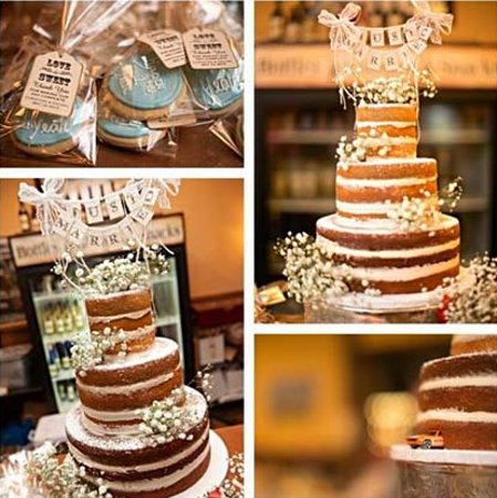 Simply Desserts Rustic Wedding Cake And Cookies