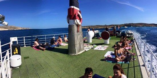 Bugibba, Malta: Upper deck while cruising