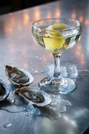 Three Oaks, MI: Half Shell Oysters and a Martini... Yes, please!