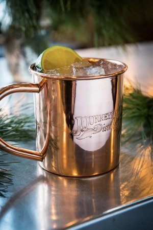 Three Oaks, MI: Custom engraved Journeyman Distillery Copper Mug included with our Journeyman Copper Mule.