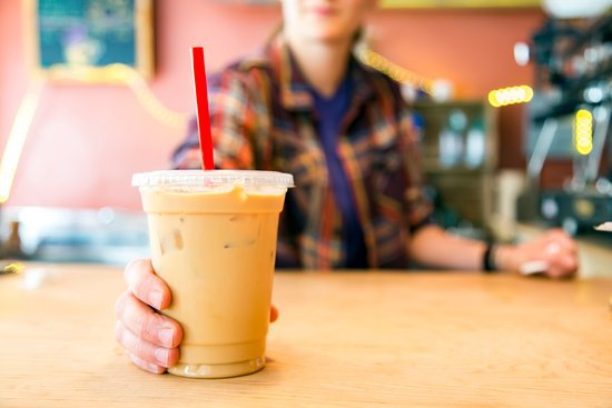 Jonesborough, TN: We serve yummy iced lattes. Try the honey cinnamon; it's with local honey! (PC: Whitney S. Willi