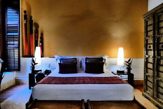 Our bedroom at Hotel Quadrifolio