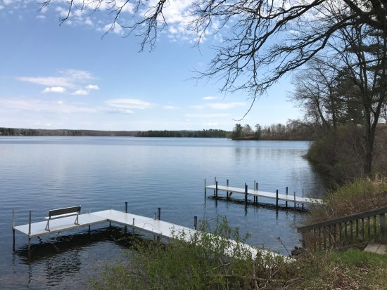 Birchwood, WI: Cottage #12 dock & view
