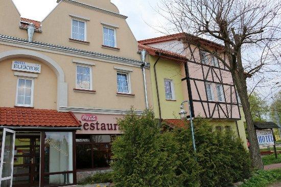Morag, Polen: Wejście do Hotelu