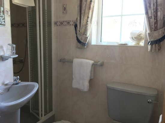 Oranmore, Ierland: Small bath but clean, window opens here too