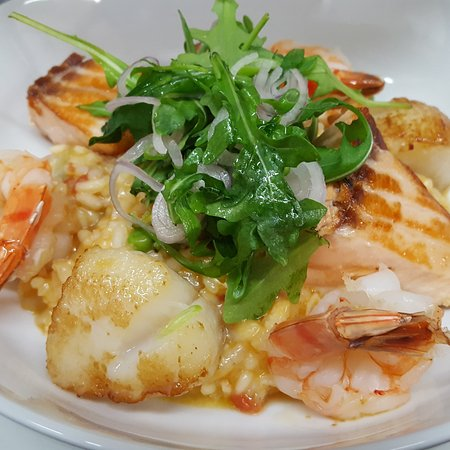 Pawcatuck, คอนเน็กติกัต: Seafood Risotto