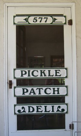 San Andreas, Kalifornia: This is the front door of the wonderful Pickle Patch
