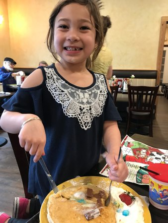 Rockland, MA: Loving her pancakes!