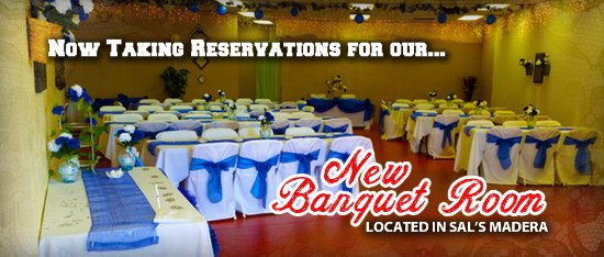 Madera, CA: Banquet room - up to 120 guests.