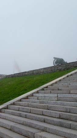 Shipka, Bulgaria: It gets colder and windier as you climb up the hill... and this was in May!