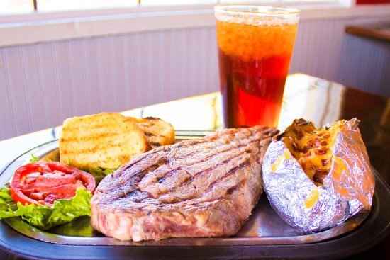 Captain Joe's Seafood: Ribeye Steak Dinner #steak #ribeye