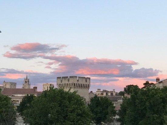 Lignan-De-Bordeaux, France: Sunset view from the ship.