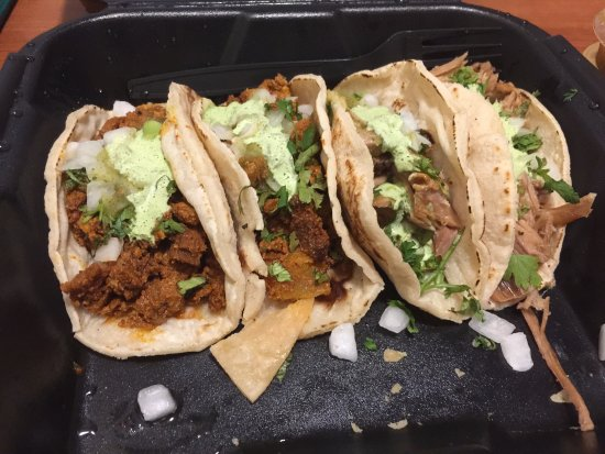California Tacos : Two of the different meat tacos!
