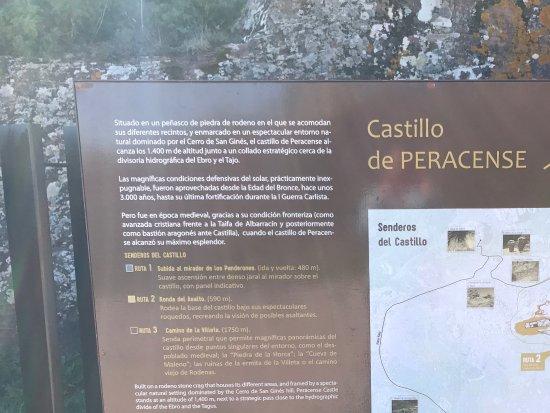 Provincia de Teruel, España: Castillo de Peracense