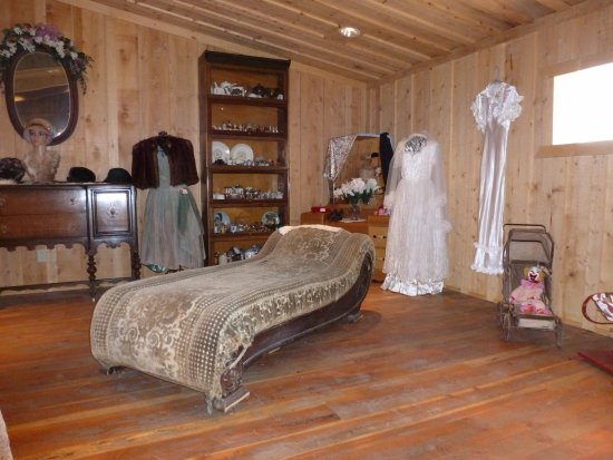Big Piney, WY: The upstairs area of the Burnham building which is one of the largest buildings on the museum ca