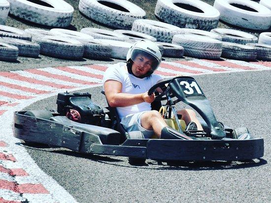 Go Karting San Bartolome: Sliding into the corner