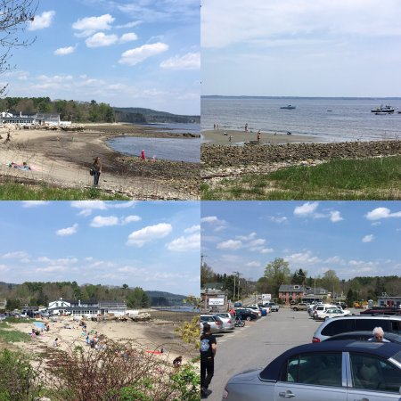 Finn's pics give us a preview of Summer today @Lincolnville Beach, directly across the street fr