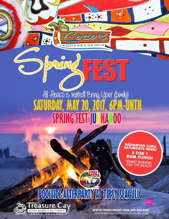Treasure Cay, Great Abaco Island: Spring Fest at Coco Beach