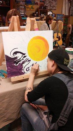 Prescott Valley, AZ: Open painting during Open Mic night!