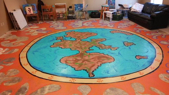 Prescott Valley, AZ: Floor mural in the works!